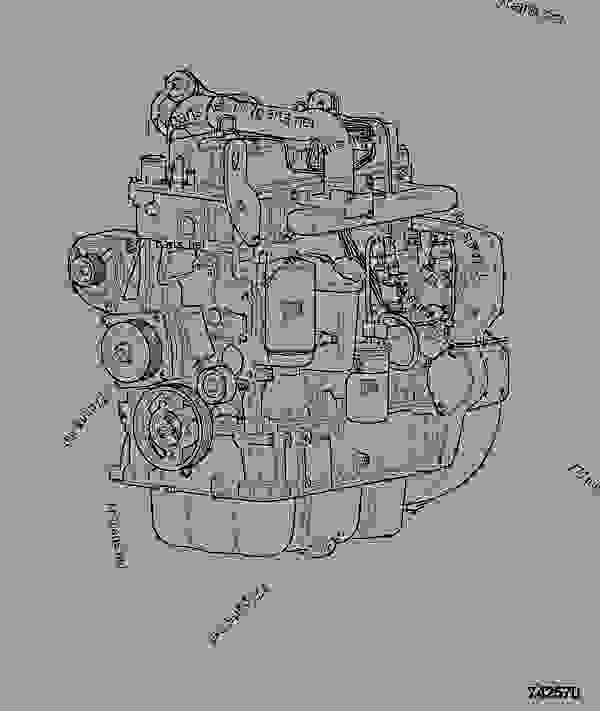 零件的略图 ENGINE, COMPLETE, 320/40006 - ITL JCB 320/40227 - JCB444 4 CYLINDER ENGINE PARTS CATALOGUE, 9802/2940 ENGINE 4 CYLINDER TURBOCHARGED ENGINE ASSEMBLY ENGINE, COMPLETE, 320/40006 | 777parts