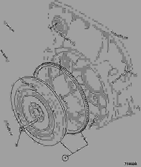 零件的略图 FLYWHEEL ASSEMBLY, P42 VOITH COUPLING - ITL JCB 320/40227 - JCB444 4 CYLINDER ENGINE PARTS CATALOGUE, 9802/2940 ENGINE 4 CYLINDER TURBOCHARGED FLYWHEEL ASSEMBLY FLYWHEEL ASSEMBLY, P42 VOITH COUPLING | 777parts