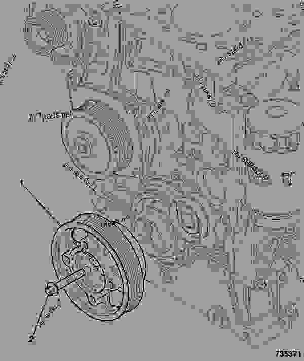 零件的略图 CRANKSHAFT PULLEY - ITL JCB 320/40215 - JCB DIESELMAX OWNER PARTS CATALOGUE, 9812/2350 JCB DIESELMAX ENGINE MT3 FRONT END DRIVE CRANKSHAFT PULLEY | 777parts