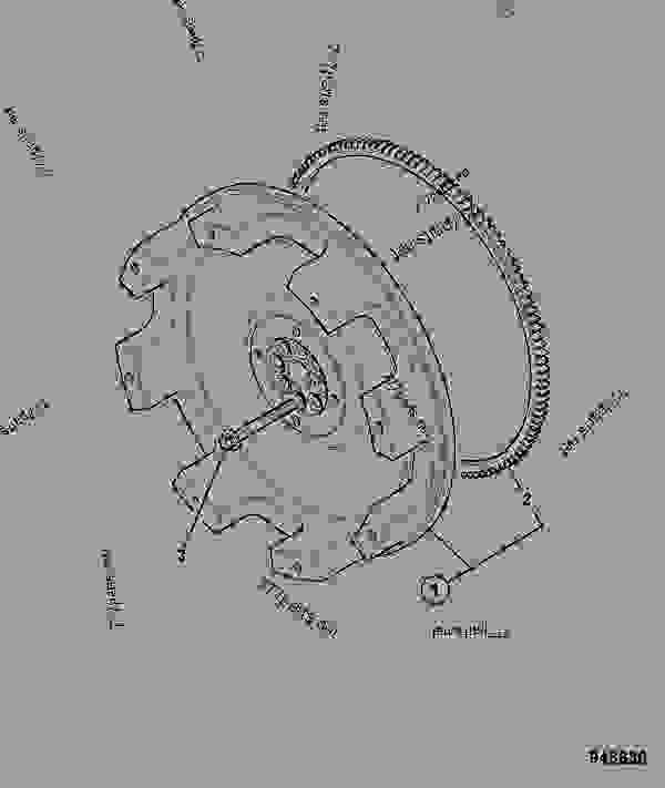 零件的略图 FLYWHEEL ASSEMBLY, DANA - ITL JCB 320/40205 - JCB DIESELMAX OWNER PARTS CATALOGUE(OEM), 9812/2450 ENGINE 4 CYLINDER TURBOCHARGED FLYWHEEL ASSEMBLY FLYWHEEL ASSEMBLY, DANA | 777parts