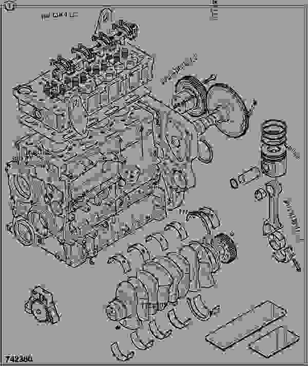 零件的略图 ENGINE, LONG, TCA 320/40023 - ITL JCB 320/50013 - JCB444 4 CYLINDER ENGINE PARTS CATALOGUE, 9802/2940 ENGINE 4 CYLINDER TURBOCHARGED OVERHAUL KITS ENGINE, LONG, TCA 320/40023 | 777parts