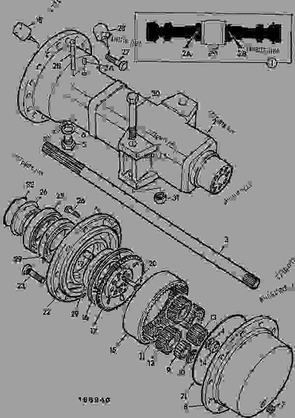 AXLE ASSEMBLY, DRIVE, FRONT, 24 975:1, GERMAN - AGRICULTURAL
