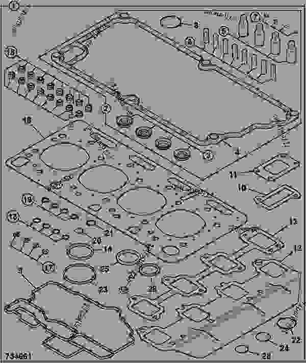 零件的略图 GASKET SET, TOP OVERHAUL - ITL JCB 320/40205 - JCB DIESELMAX OWNER PARTS CATALOGUE, 9812/2350 JCB DIESELMAX ENGINE MT3 GASKET SETS GASKET SET, TOP OVERHAUL | 777parts