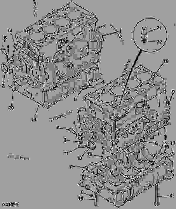 零件的略图 CYLINDER BLOCK, ASSEMBLY - ITL JCB 320/50013 - JCB444 4 CYLINDER ENGINE PARTS CATALOGUE, 9802/2940 ENGINE 4 CYLINDER TURBOCHARGED CYLINDER BLOCK ASSEMBLY CYLINDER BLOCK, ASSEMBLY | 777parts