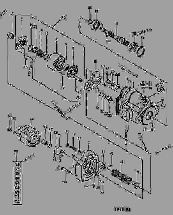 tp50185________un05oct99 main hydraulic pump components 挖掘机john deere 35zts Basic Electrical Wiring Diagrams at edmiracle.co