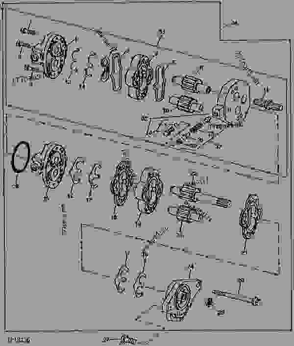 main hydraulic and steering pump  vickers   relief valve