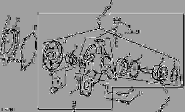 water pump assembly  pe4045dt050   208931 -