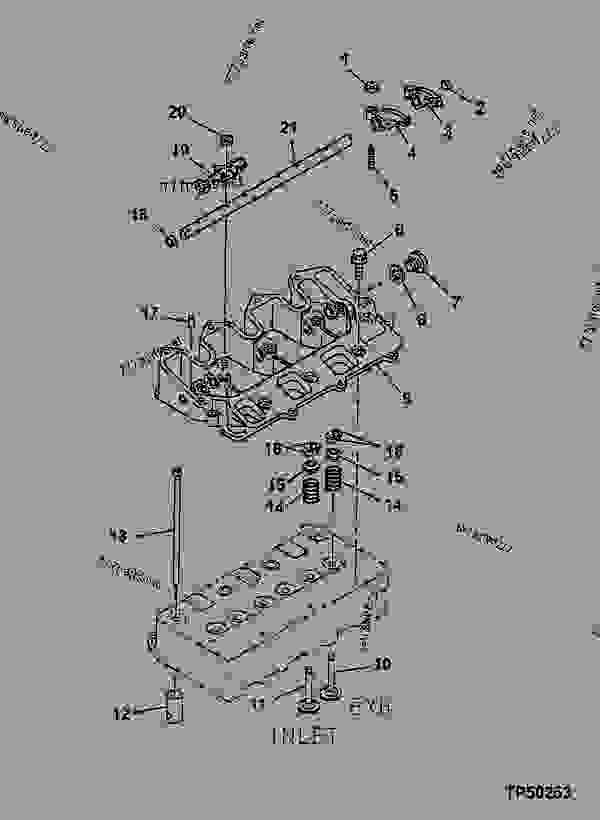 tp50253________un25oct99 rocker arm shaft, push rods and rocker arms 挖掘机john deere Basic Electrical Wiring Diagrams at edmiracle.co