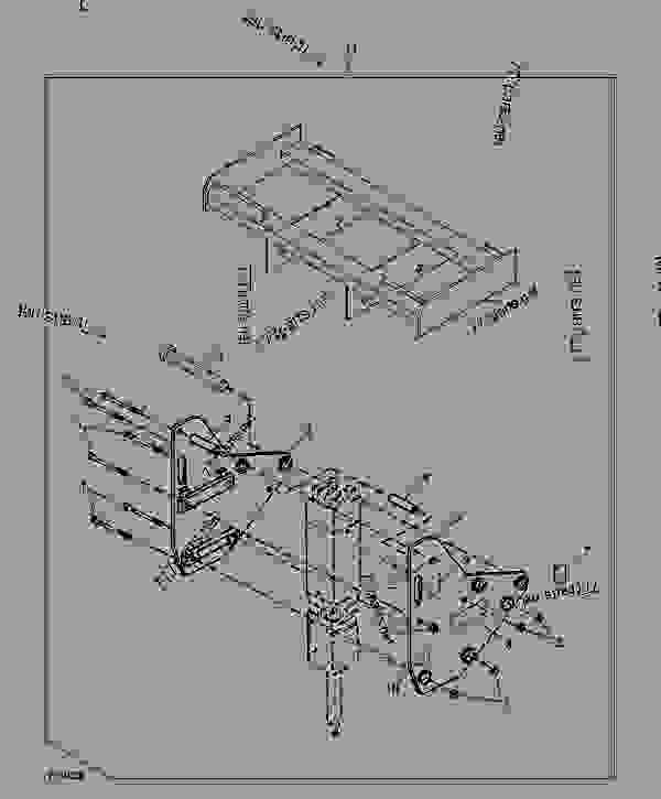 零件的略图 Bracket (Skid Steer) (HB75) - 装载机,滑动转向,附件 John Deere DB84 - LOADER, SKID-STEER, ATTACHMENT - Worksite Pro Attachments Breaker Bracket (Skid Steer) (HB75) | 777parts