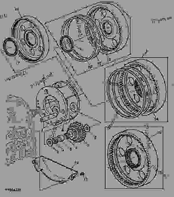 零件的略图 INPUT PLANETARY ASSEMBLY - 拖拉机 John Deere 6500 - TRACTOR - 6200, 6300, 6400, and 6500 Tractors (North American Edition) POWRQUAD TRANSMISSION INPUT PLANETARY ASSEMBLY | 777parts