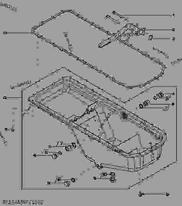 零件的略图 19AC (OIL PAN) [19AC] - 引擎,POWERTECH John Deere 6068TF275 - ENGINE, POWERTECH - PowerTech 6.8L 6068TF275 OEM Engine (Saran and Torreon) 190 OIL PAN [1900] 19AC (OIL PAN) [19AC] | 777parts