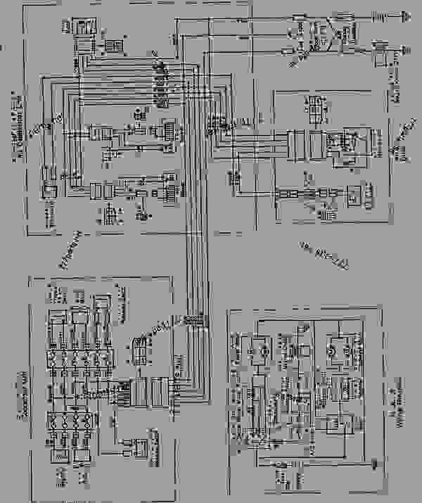 air conditioner wiring diagram  for rops cab   15001-16486  -  u63a8 u571f u673a komatsu d75s-5
