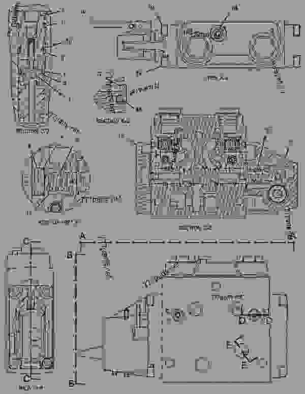 caterpillar hydraulic bucket schematic
