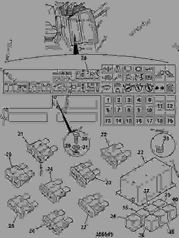 Fuse Box  U0026 Relays  Powershift Trans - Construction Jcb 215s Toolcarrie