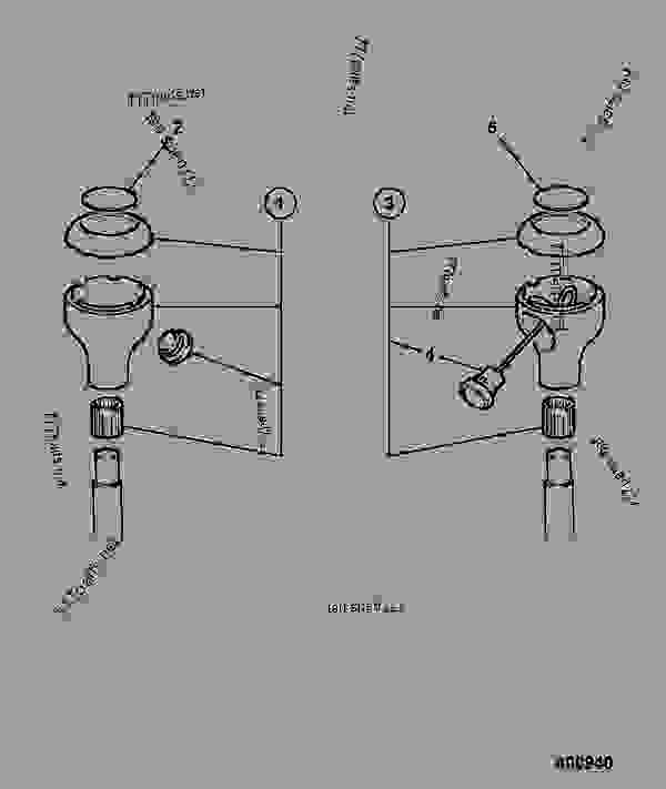 control knob  excavator valve  iso pattern