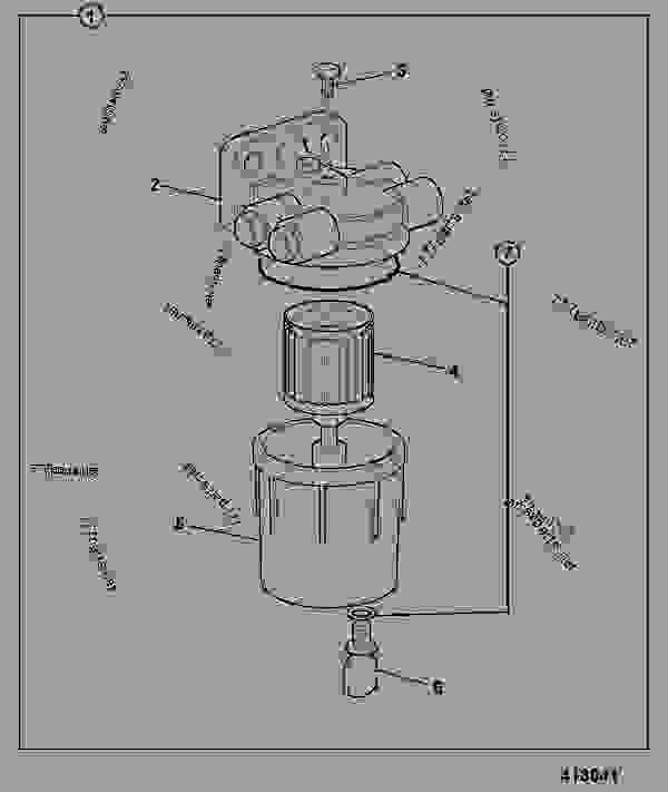 filter  fuel sediment - construction jcb 214e  3c plus-t2