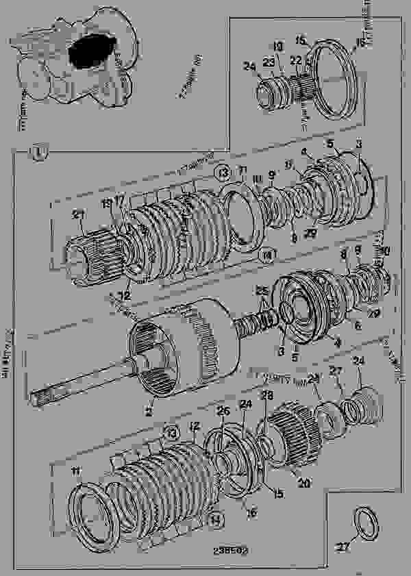 clutch  input  ps745 powershift transmission 460  33900 - construction jcb tg300