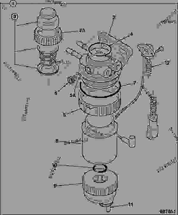 primary fuel filter - jcb india jcb 320  40203