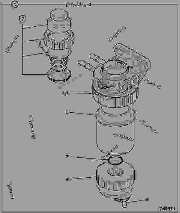 filter  fuel sediment - construction jcb 4cx
