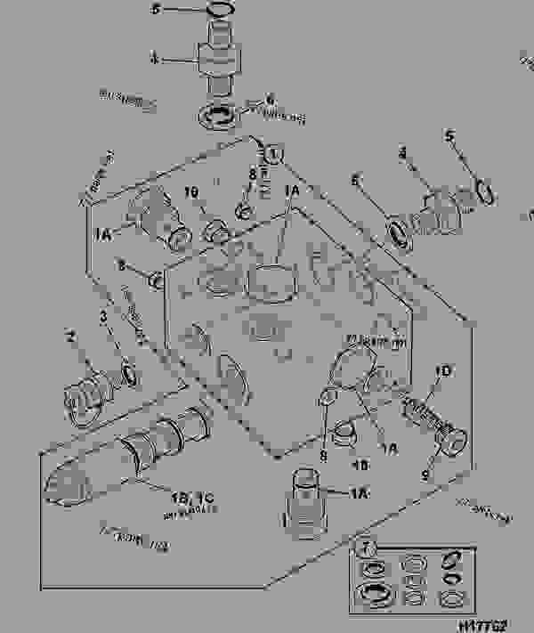 valve dipper boost dump construction jcb 804 super. Black Bedroom Furniture Sets. Home Design Ideas