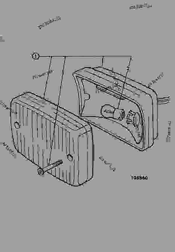 Construction Light Parts : Light rear fog construction jcb cx france regular
