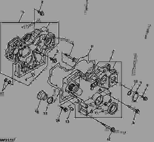 John Deere Pro Gator Wiring Diagram : Gear case housing engine marked tg juv progator