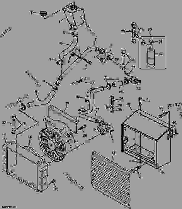 radiator  engine marked 3tg72-juv    - xxxxxx  - progator john deere progator - progator