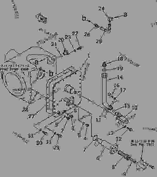 final drive case  differential lock type   2  2  -  u81ea u52a8 u5e73 u8def u673a komatsu gd625a-1c